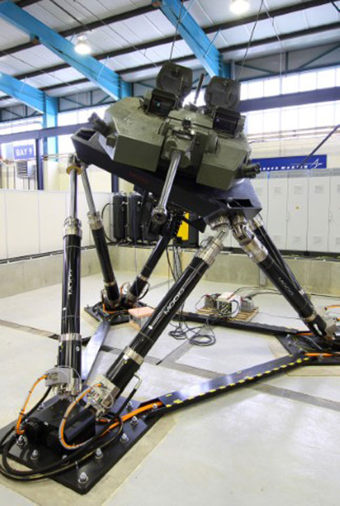 Moog Motion Base System Operating at Lockheed Martin (UK)