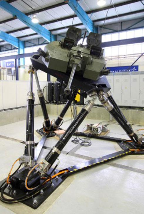 Moog Motion Base System Operating at Lockheed Martin (UK)