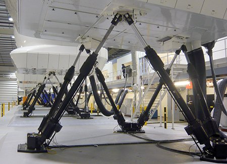 Moog Motion and Control Loading Systems for H-145 Helicopter Full Flight Simulator Level D to Reiser